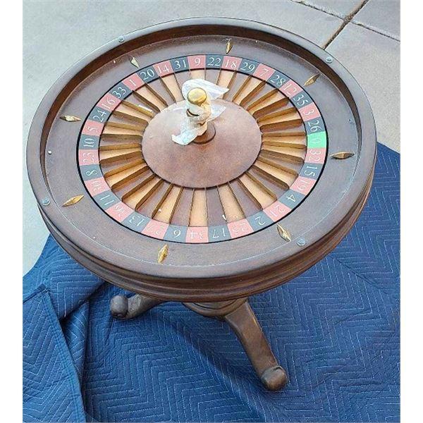 Authentic Las Vegas 1950`s Casina Roulette Wheel Table