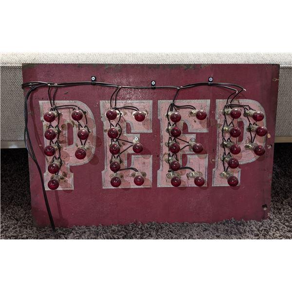 """Peep Incandescent bulb Sign (24"""" x 16.5"""")"""