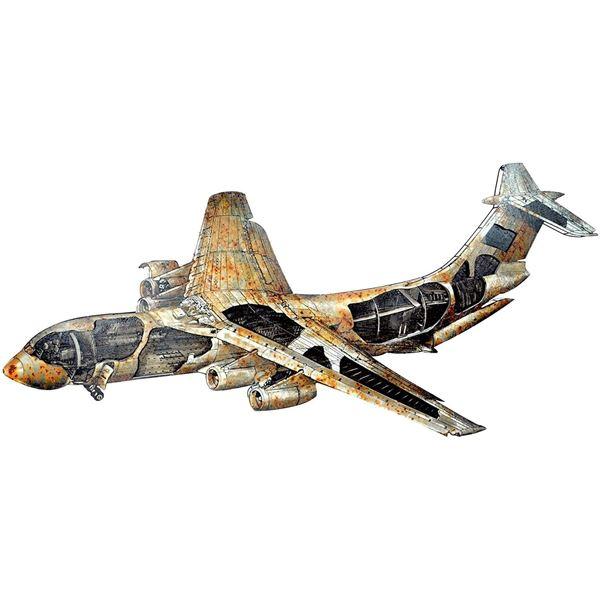 "Moe's Airplane Metal Wall Decor - KE - 1001-37 - 49"" X 121""W"