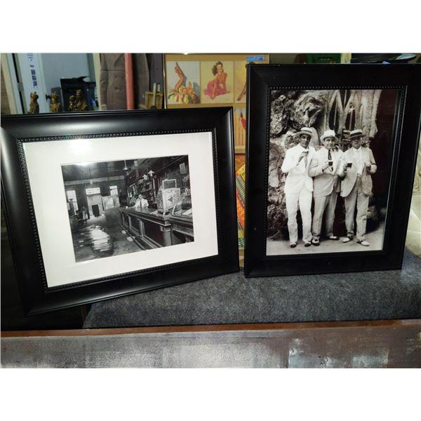 """Al Capone Group Picture Memorabilia and Mafia Picture - 17""""x14""""  both"""