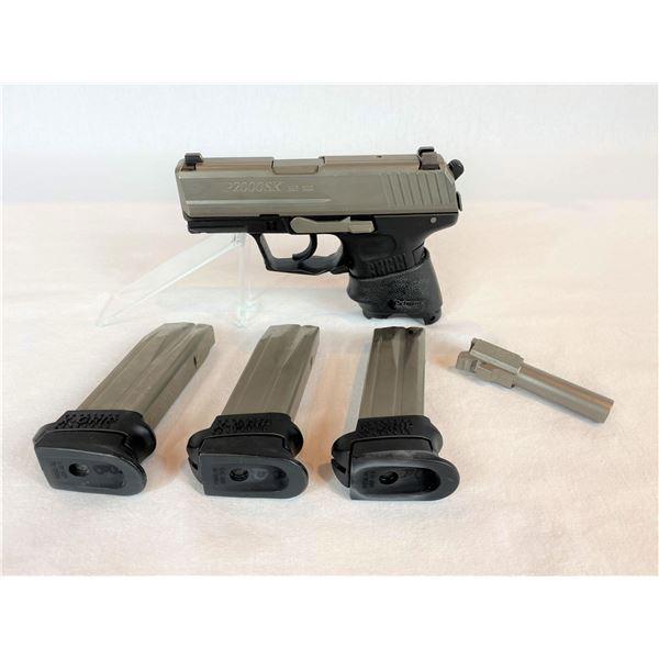 HECKLER & KOCH P2000  SEMI AUTO PISTOL  w/ 40 SW & 357 SIG BARRELS-2 GUNS ONE FRAME
