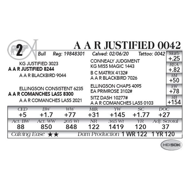 A A R Justified 0042