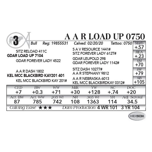 A A R Load Up 0750