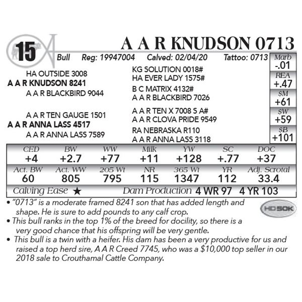 A A R Knudson 0713