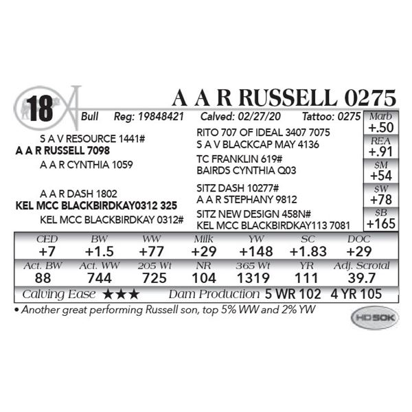 A A R Russell 0275