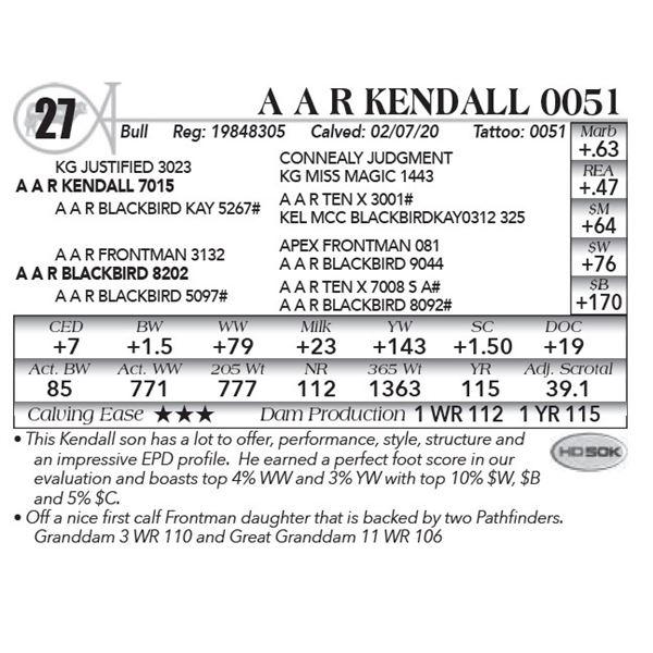 A A R Kendall 0051