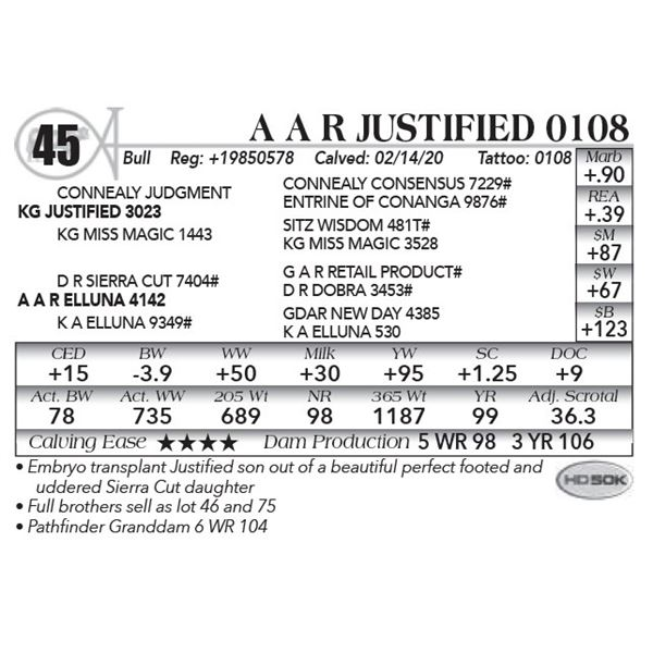 A A R Justified 0108