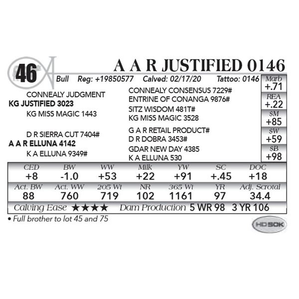 A A R Justified 0146