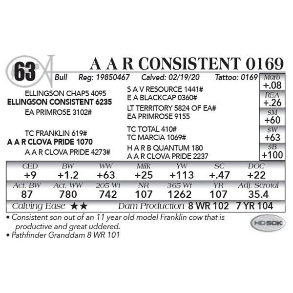 A A R Consistent 0169