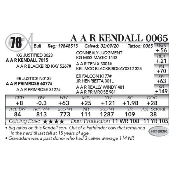 A A R Kendall 0065