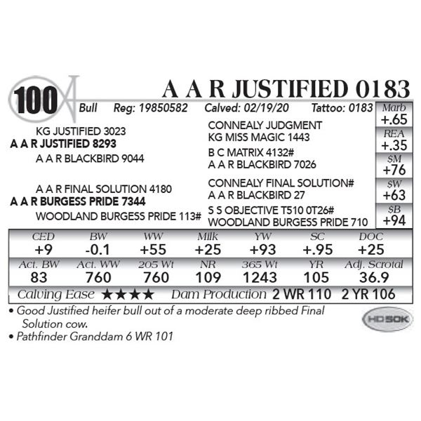 A A R Justified 0183