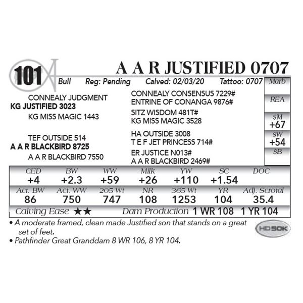 A A R JUSTIFIED 0707