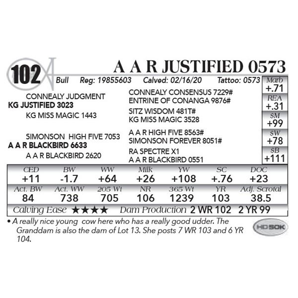 A A R Justified 0573