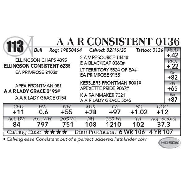 A A R Consistent 0136