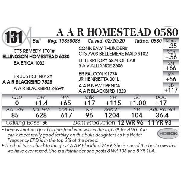 A A R Homestead 0580