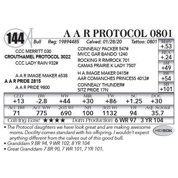 A A R Protocol 0801