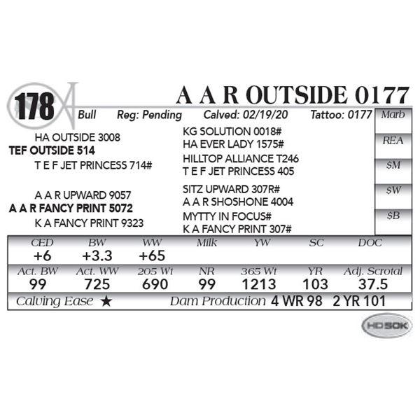 A A R OUTSIDE 0177