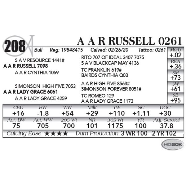 A A R Russell 0261