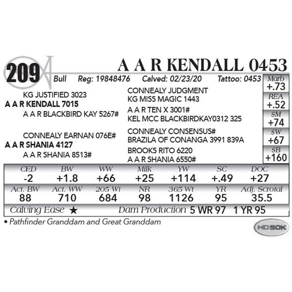 A A R Kendall 0453