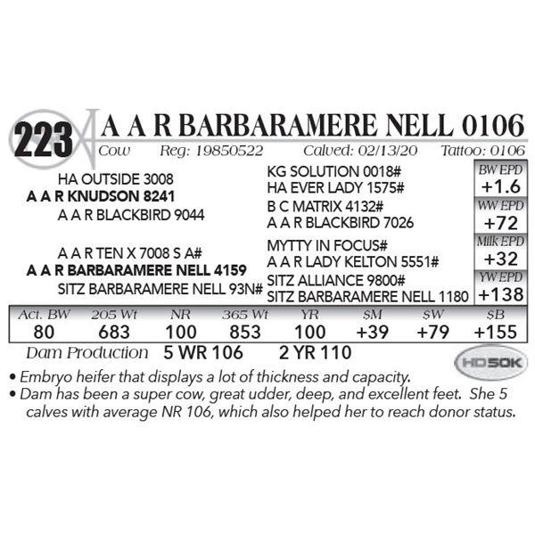A A R Barbaramere Nell 0106