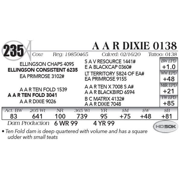 A A R Dixie 0138