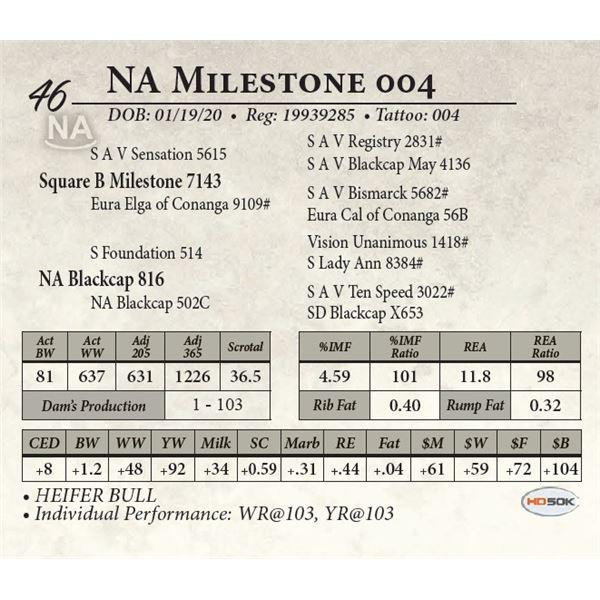 NA Milestone 004