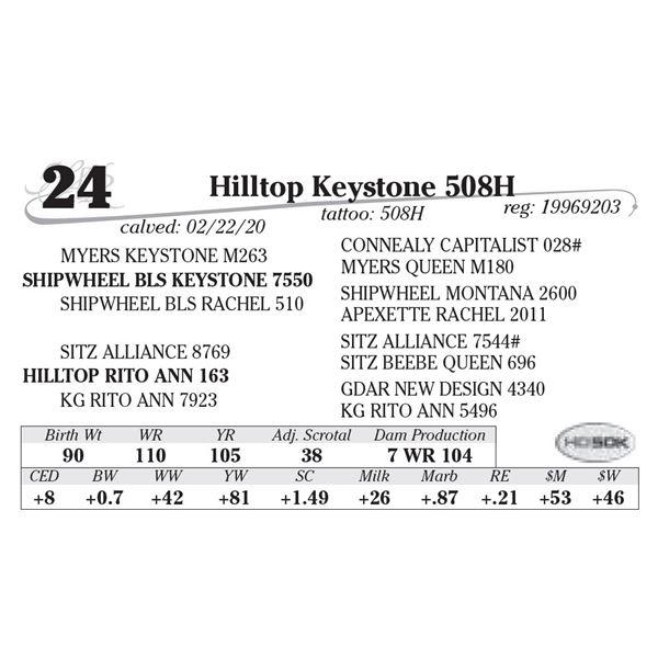 Hilltop Keystone 508H