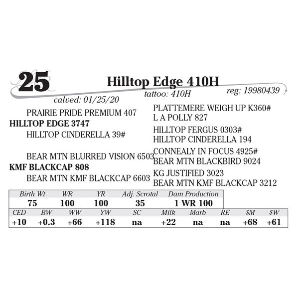 Hilltop Edge 410H