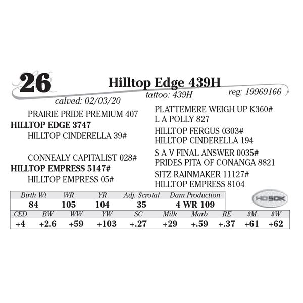 Hilltop Edge 439H