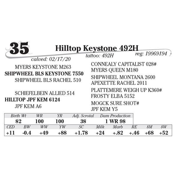 Hilltop Keystone 492H