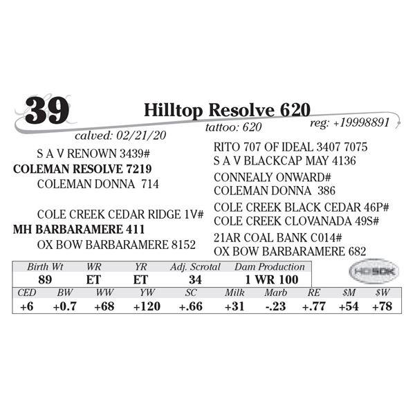 Hilltop Resolve 620