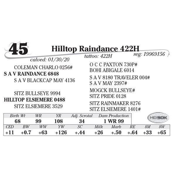 Hilltop Raindance 422H