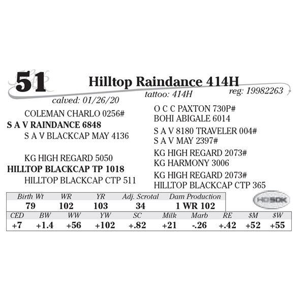Hilltop Raindance 414H