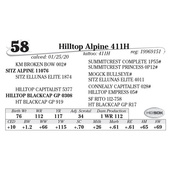 Hilltop Alpine 411H