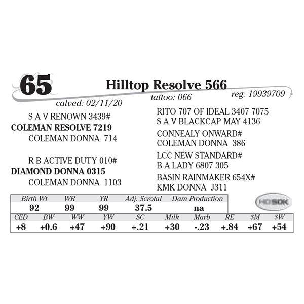 Hilltop Resolve 566