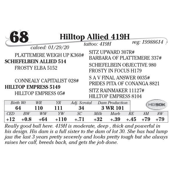Hilltop Allied 419H