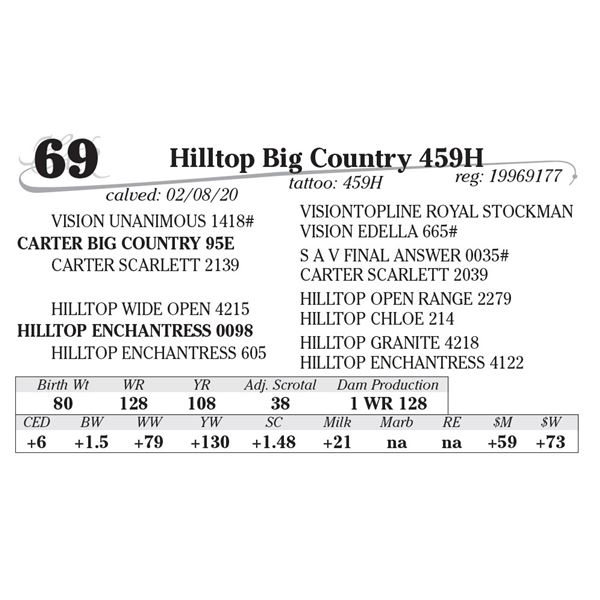 Hilltop Big Country 459H
