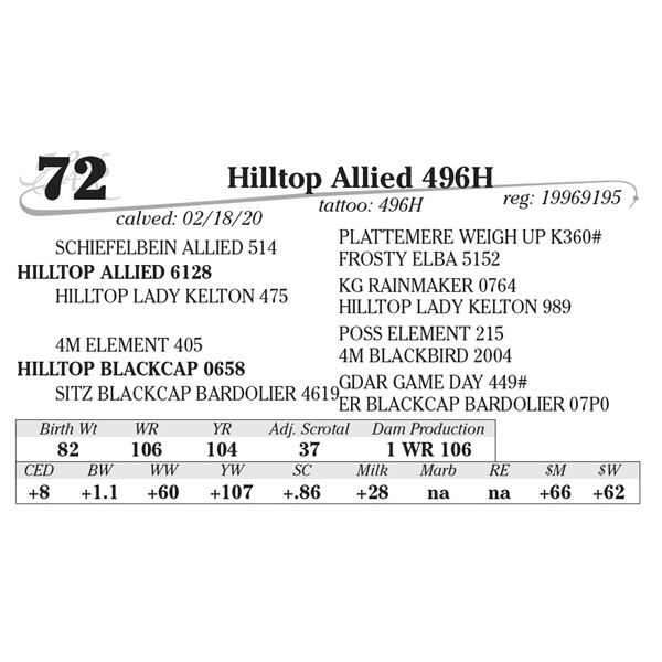 Hilltop Allied 496H