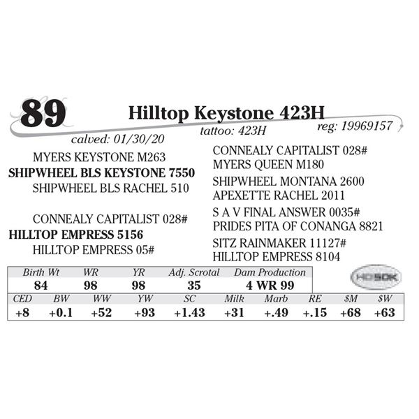 Hilltop Keystone 423H
