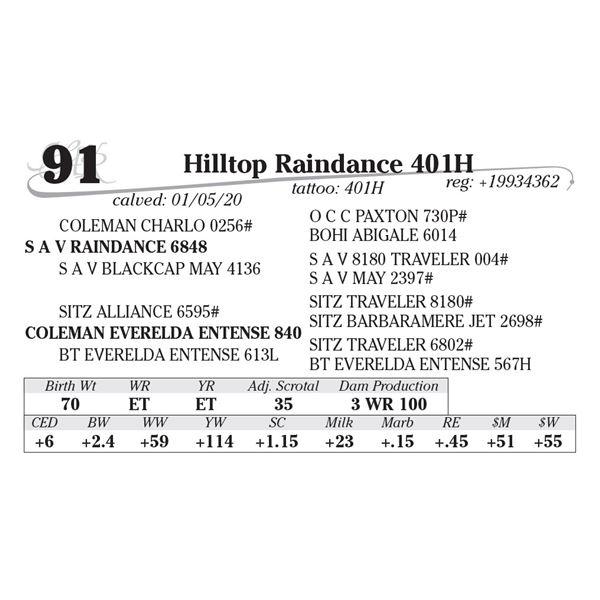 Hilltop Raindance 401H