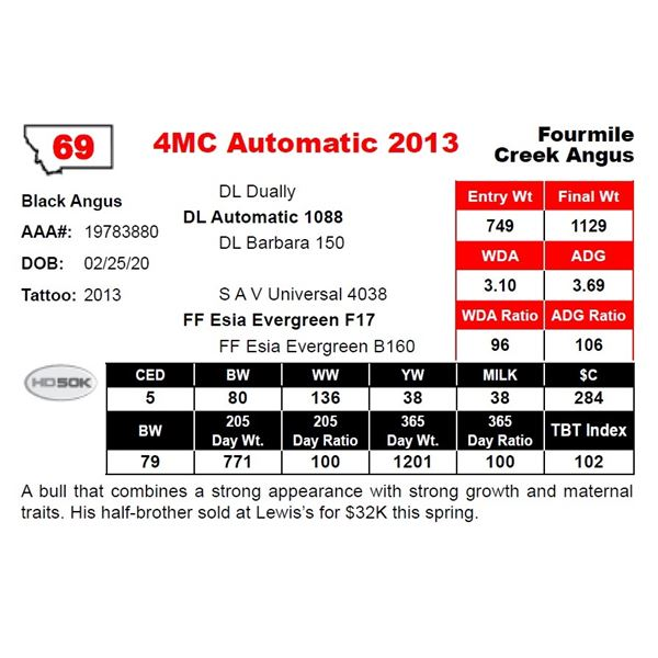 OUT OF SALE - 4MC Automatic 2013
