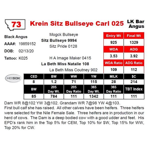 Krein Sitz Bullseye Carl 025
