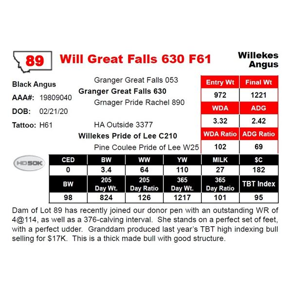 Will Great Falls 630 F61