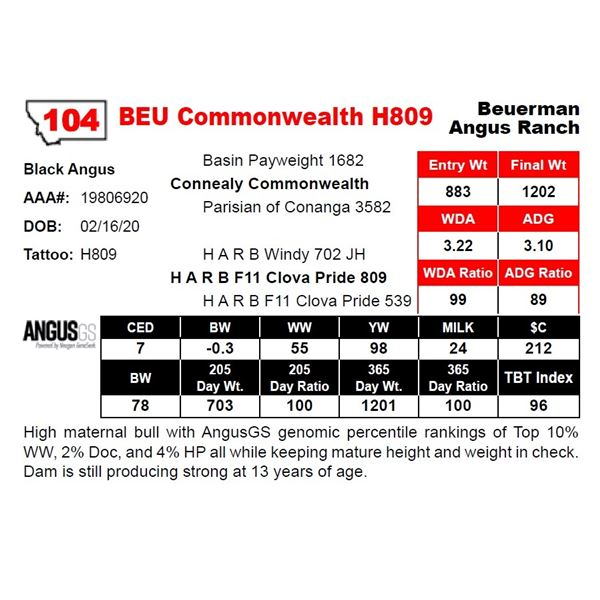 BEU Commonwealth H809