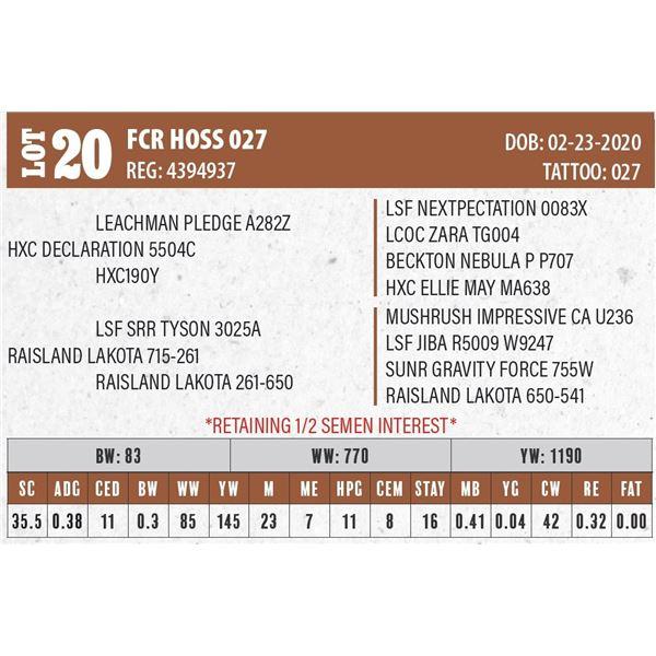 FCR HOSS 027