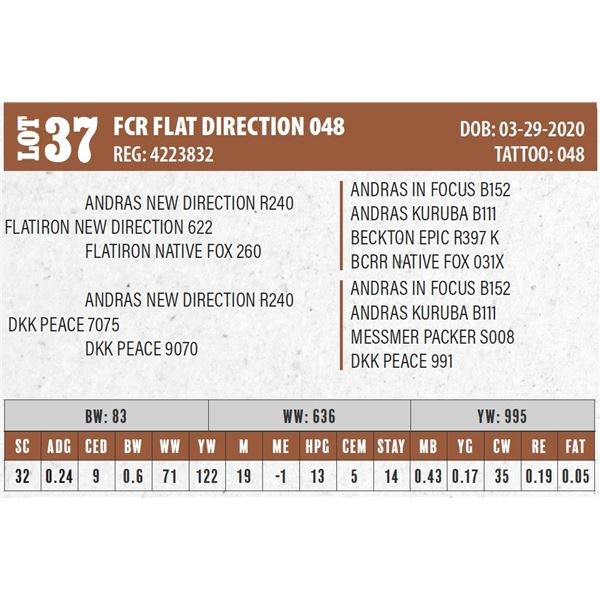 FCR FLAT DIRECTION 048