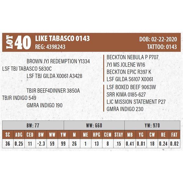 LIKE TABASCO 0143