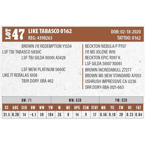 LIKE TABASCO 0162