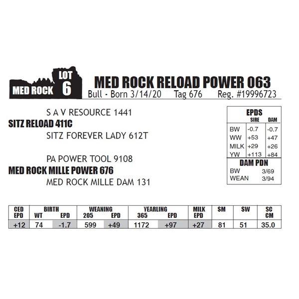 MED ROCK RELOAD POWER 063