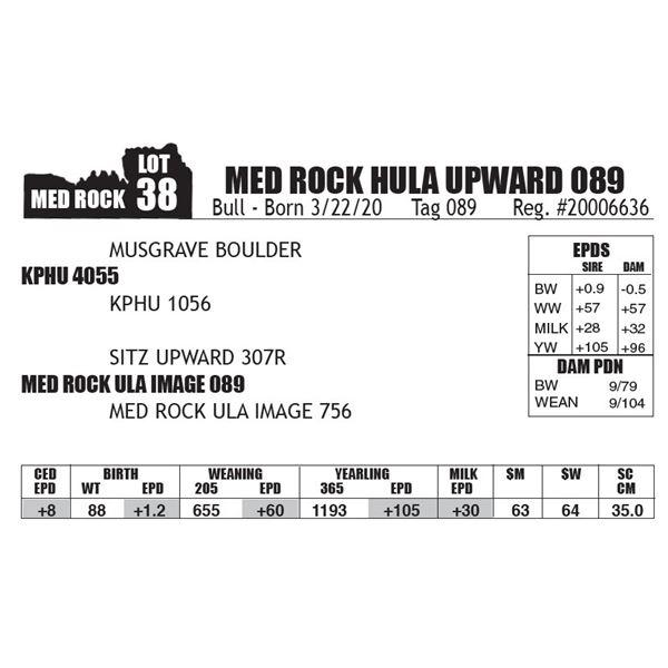 MED ROCK HULA UPWARD 089